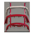 Rousseau metal red bumper cover racks for parts departments