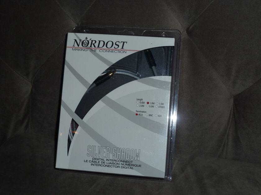 Nordost  Silver Shadow digital interconnect 1m rca free ship US 48 save $$$$