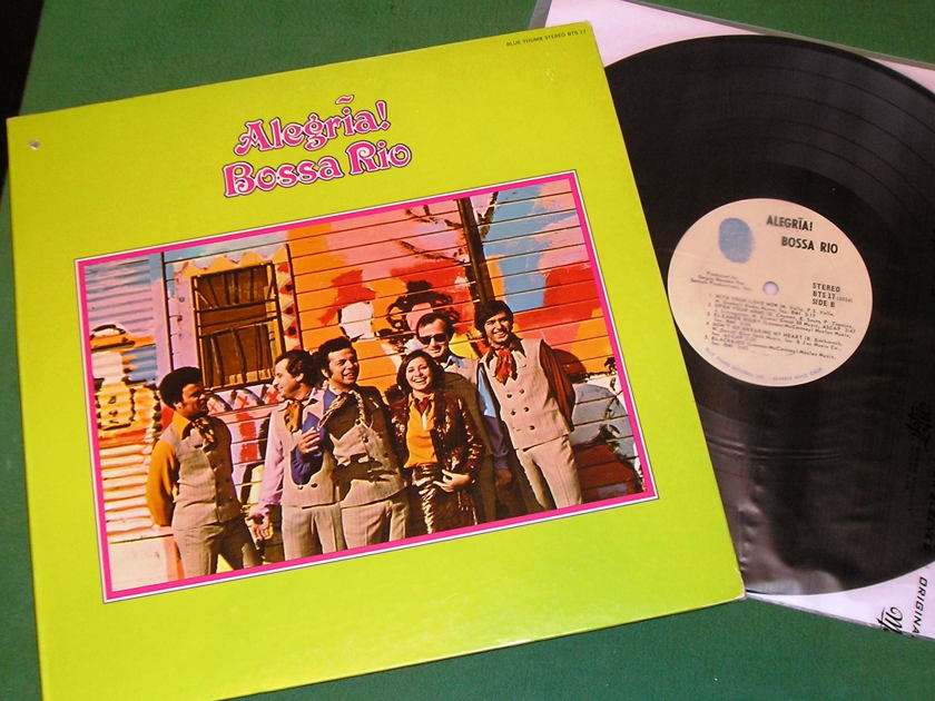 BOSSA RIO - ALEGRIA! - * 1970 BLUE THUMB 1st PRESS * NM 9/10 (Drill-Out)