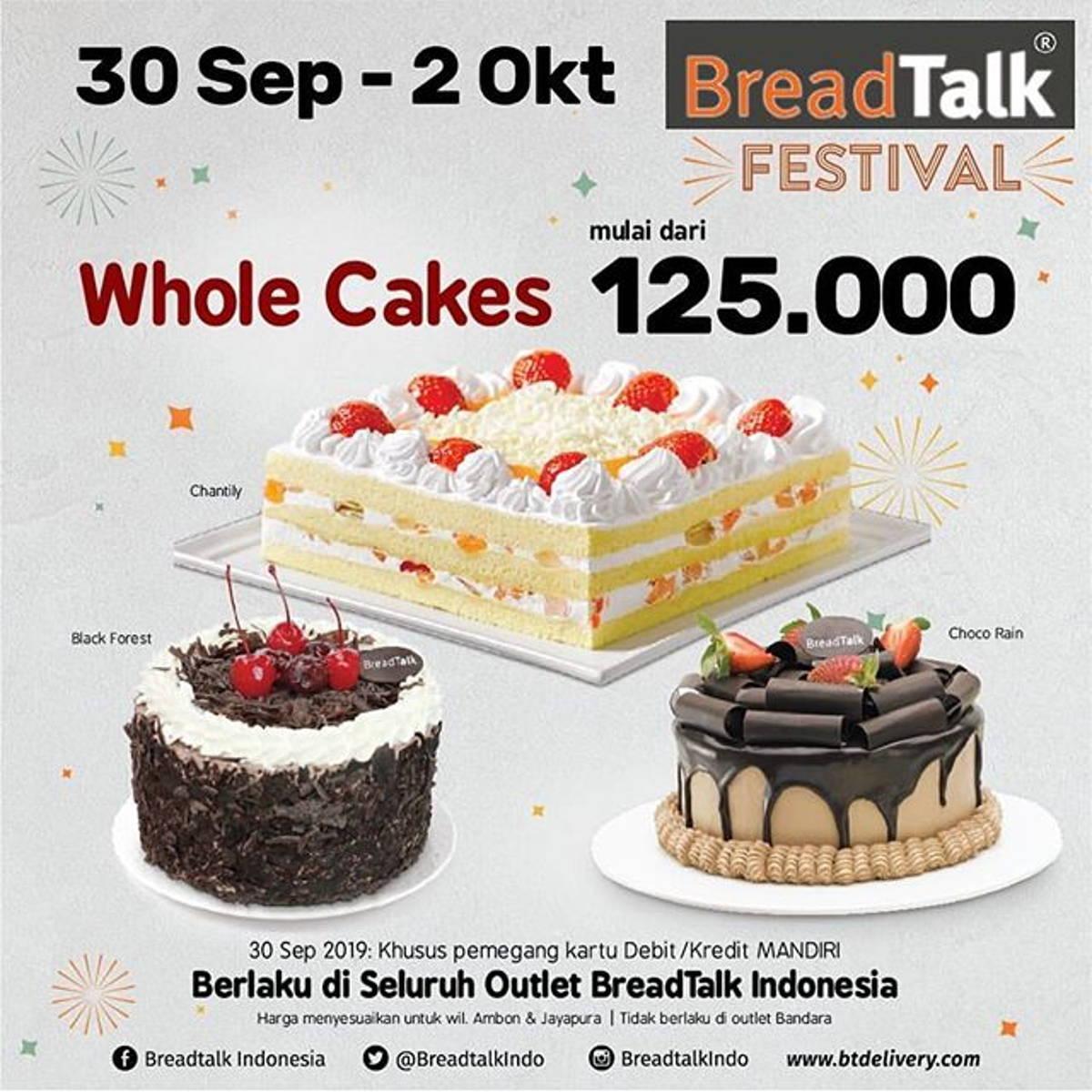 Katalog Promo: BreadTalk: Promo BREADTALK FESTIVAL Semua Roti 7.500*, Whole Cakes mulai dr 125.000* - 1