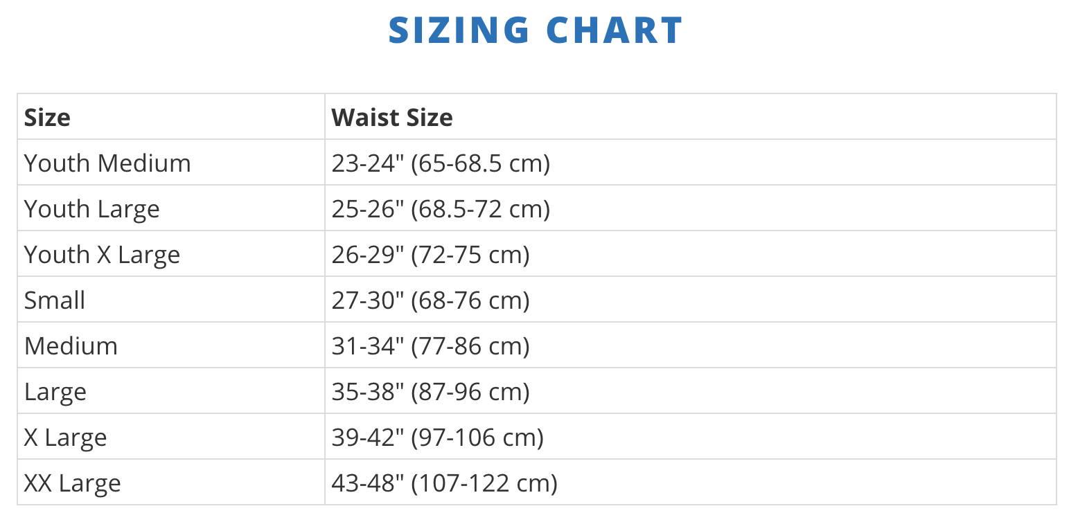 Jock Strap Size Chart