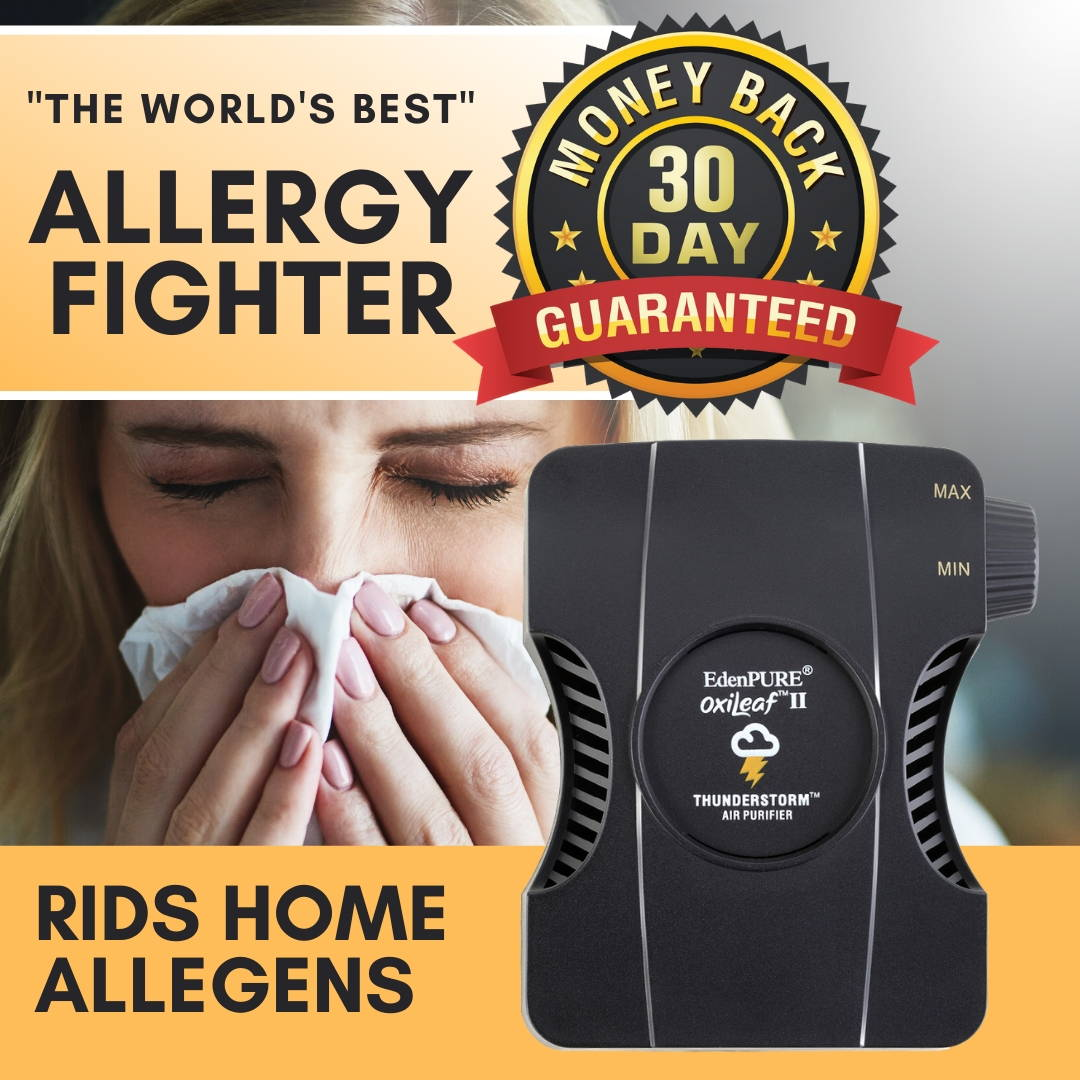 """The World's Best"" Allegy Killer - OxiLeaf™ Air Purifier"