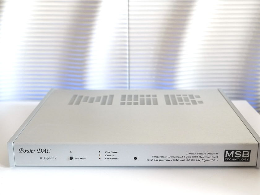 MSB TECHNOLOGY POWER DAC GOLD IV WITH BATTERY POWER SUPPLY - FACTORY REFRESHED FROM MSB