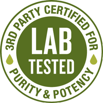 lab tested logo 3rd party certified for purity and potency
