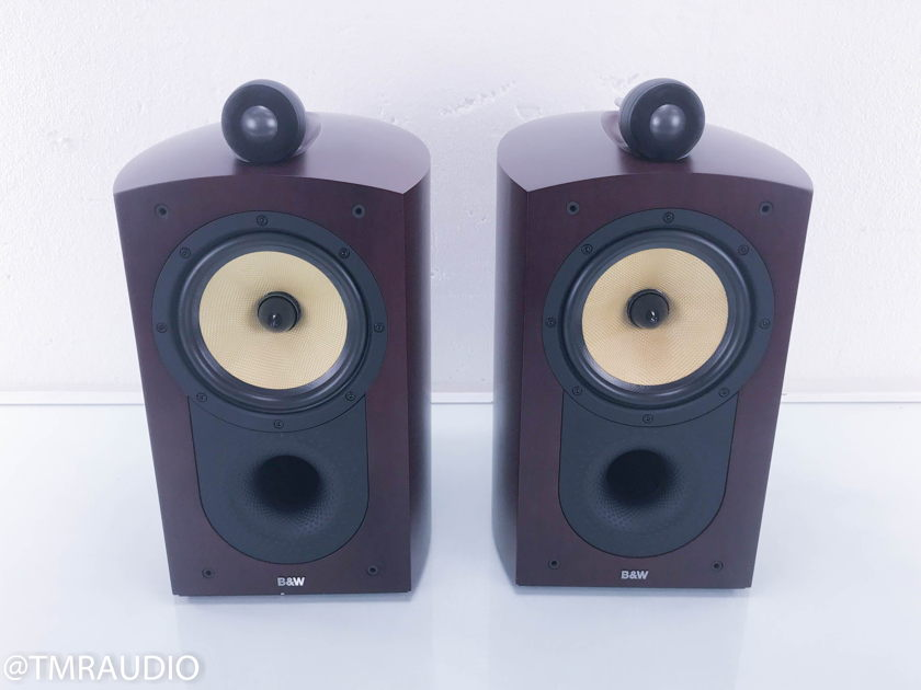 B&W Nautilus 805 Bookshelf Speakers; Red Cherry Pair; Bowers & Wilkins(11102)
