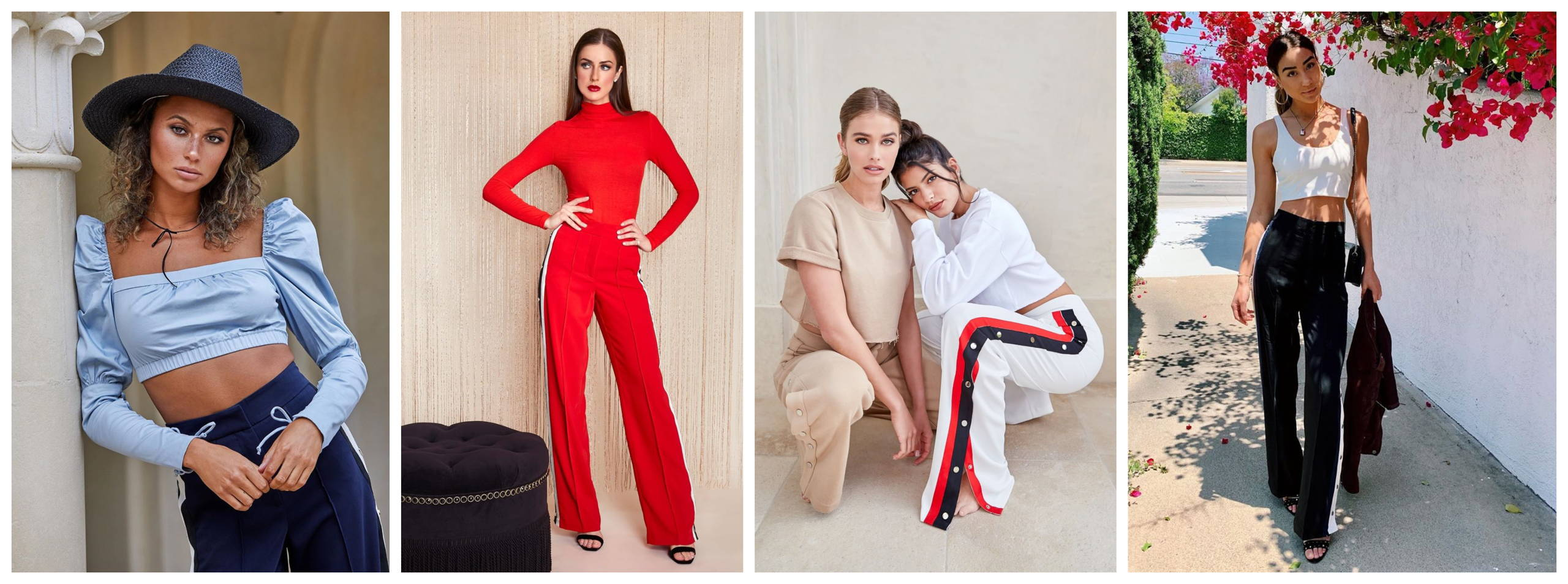High-Waisted Relaxed Side Snap Trouser
