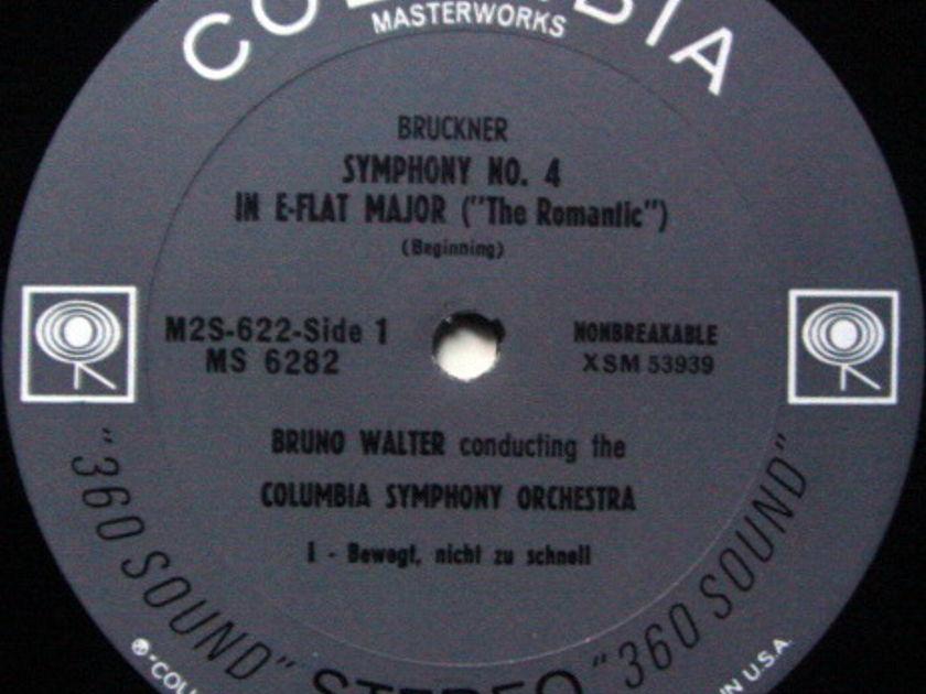 Columbia 2-EYE / BRUNO WALTER, - Bruckner Symphony No.4 Romantic, MINT, 2LP Box Set!