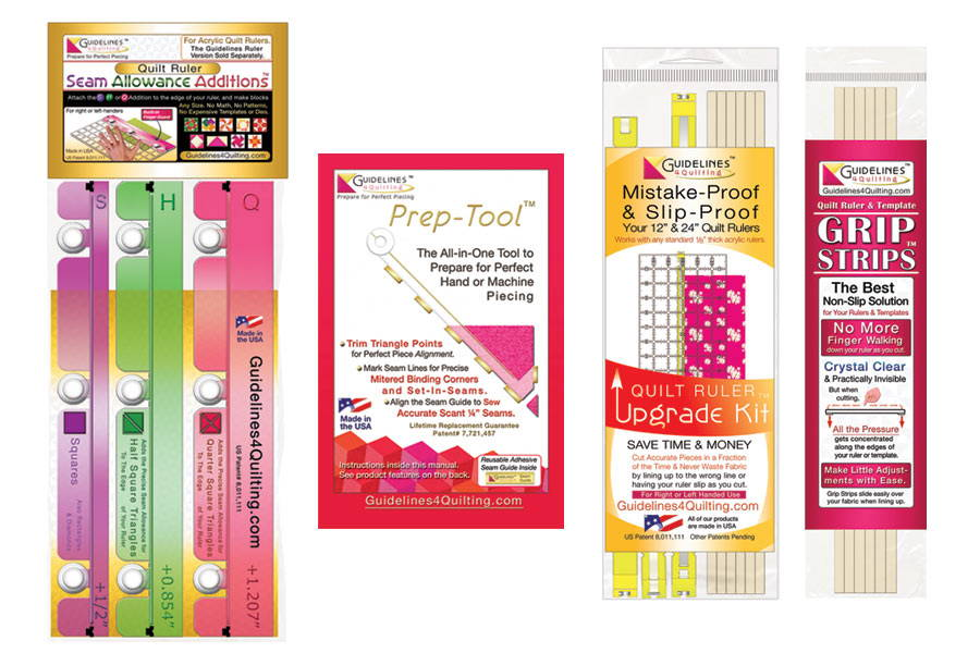 Finished-Size Quilting Sets for Regular Acrylic Rulers - Guidelines4Quilting