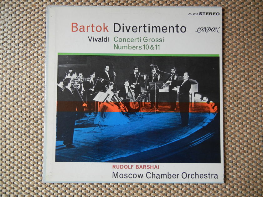 Bartok/Vivaldi - Divertimento/Concerti Grossi No's 10 & 11 London FFSS CS 6332 Blue Back