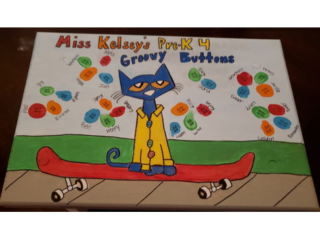PK4- Ms. Kelsey's Class Pete the Cat Step Stool