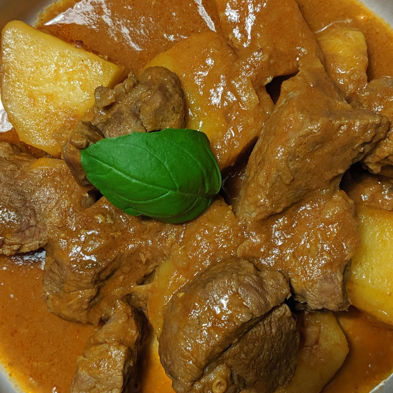 This recipe was so easy to make! I used ca. 300g of mutton. Enough for 4. Pictured is the dish for 2. Of course, the curry was marvellous with white rice. Thank you, Fazrin!