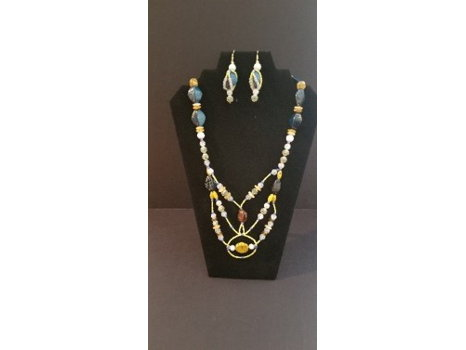 Yellow Jacket - Necklace and Earrings Set