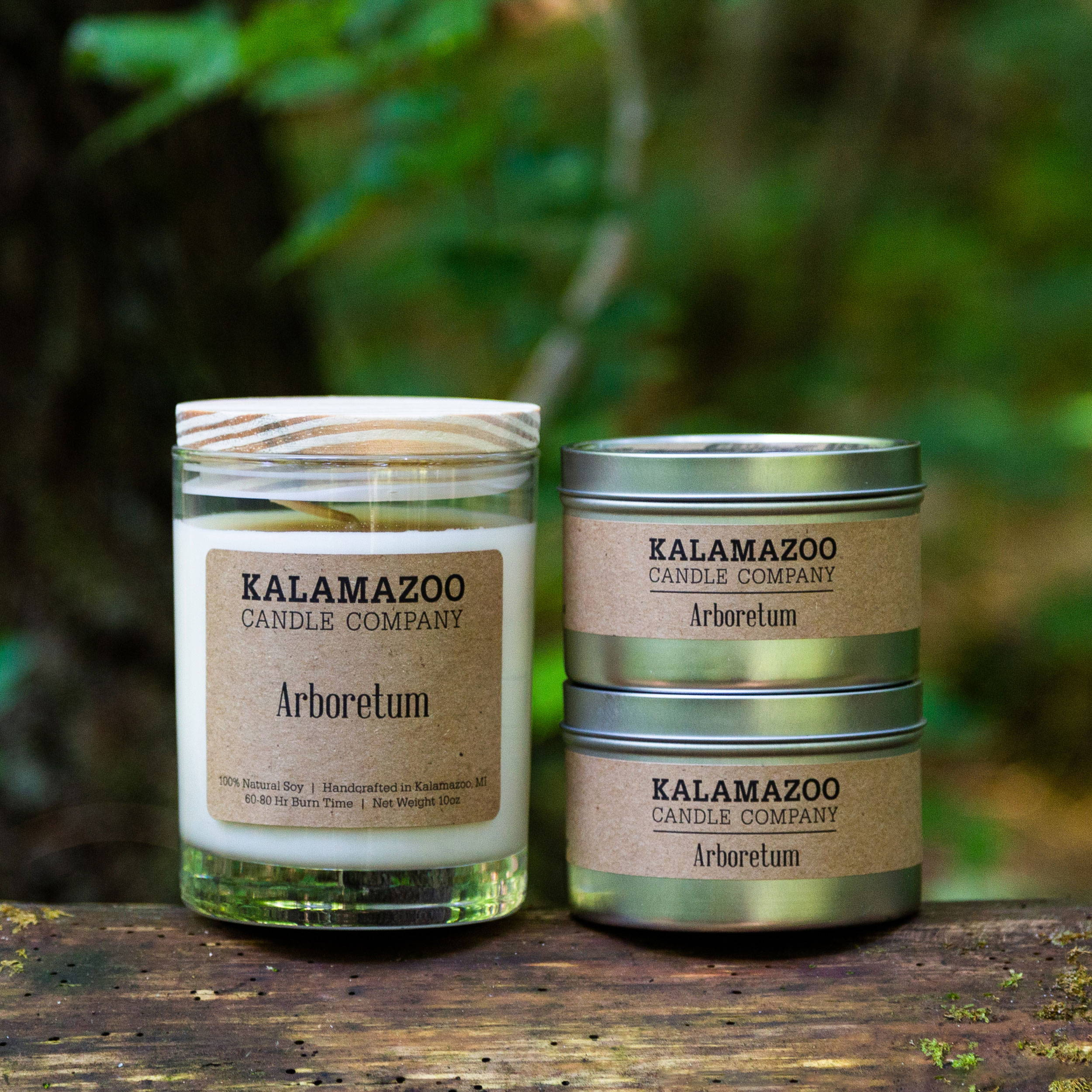 Arboreteum natural soy wax scented candle