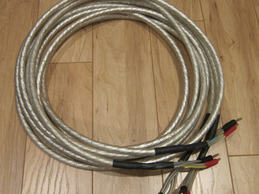 Synergistic Research Alpha Quad Speaker Cables 15 foot length bananas
