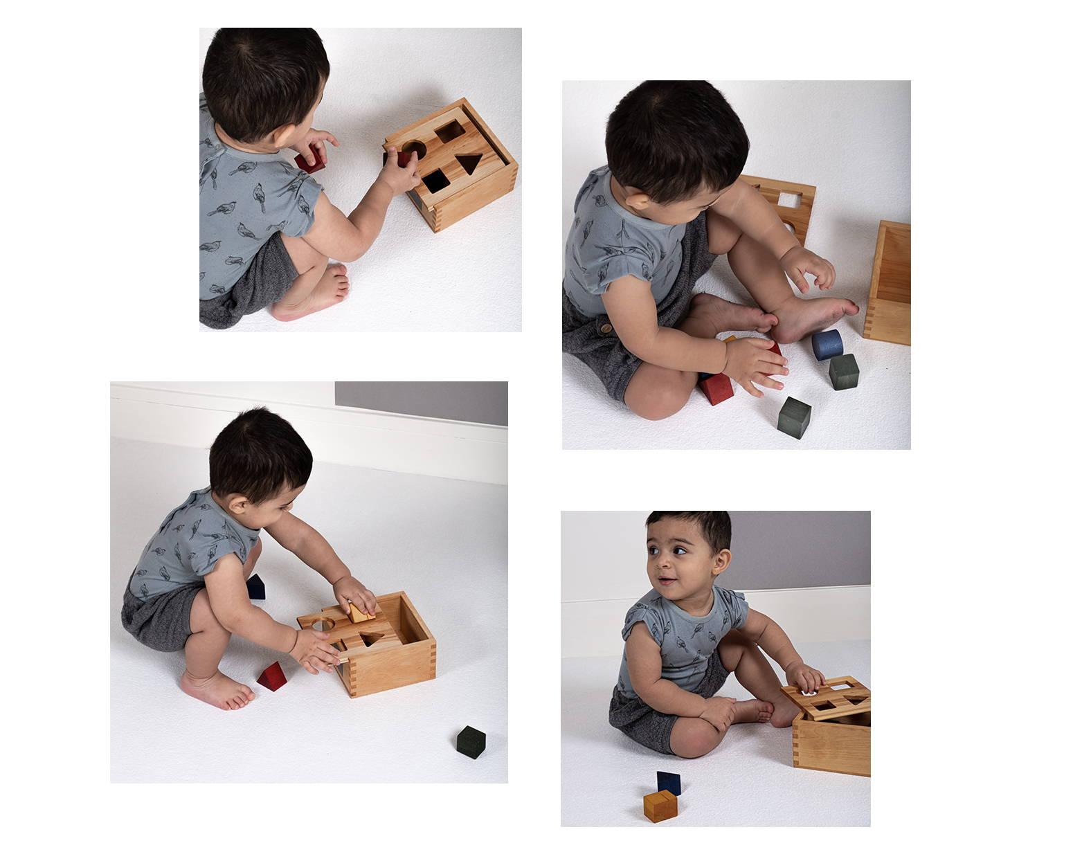 Boite à formes pour bébé en bois