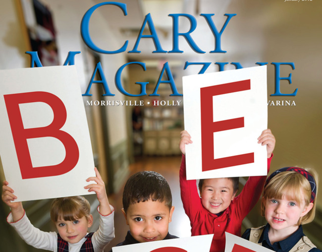 "Primrose students hold up letters that spell out ""BEST""; maggy award; primrose"