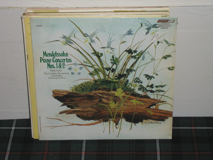 Collins/LSO - Mendelssohn Piano Cto.1&2 London STS LP FFRR (thick)