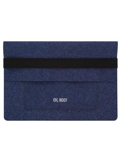 Чехол из фетра для MacBook и ноутбуков, синий, горизонтальный с крышкой