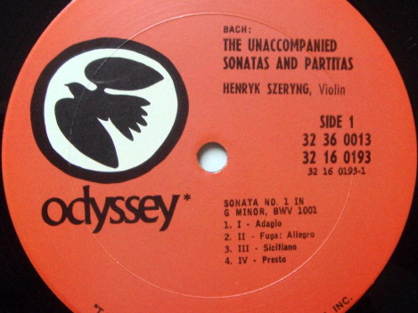 Columbia Odyssey / HENRYK SZERYNG,  - Bach Unaccompanied Sonatas & Partitas, NM, 3LP Box Set!