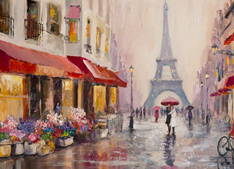 Eiffel Tower Paris City Painting