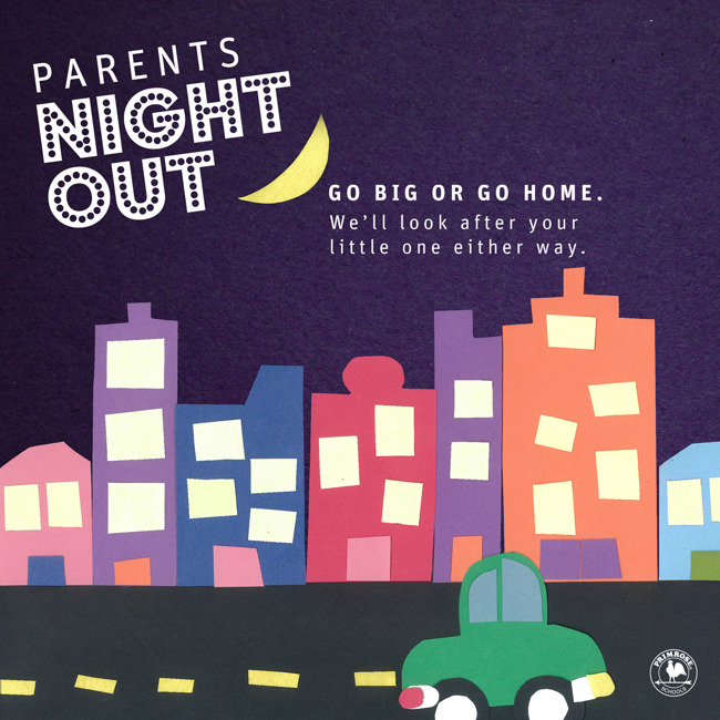 Parents Night Out - fun for children - dinner - PJs