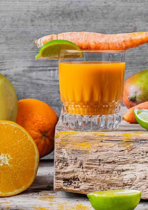 Karotten Ingwer Mango Smoothie