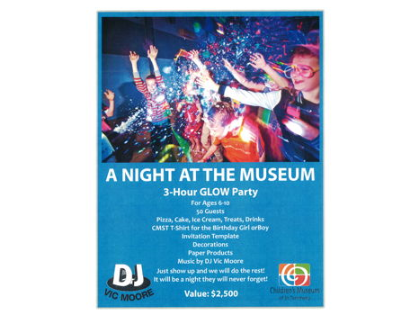 GLOW Party at the Museum!