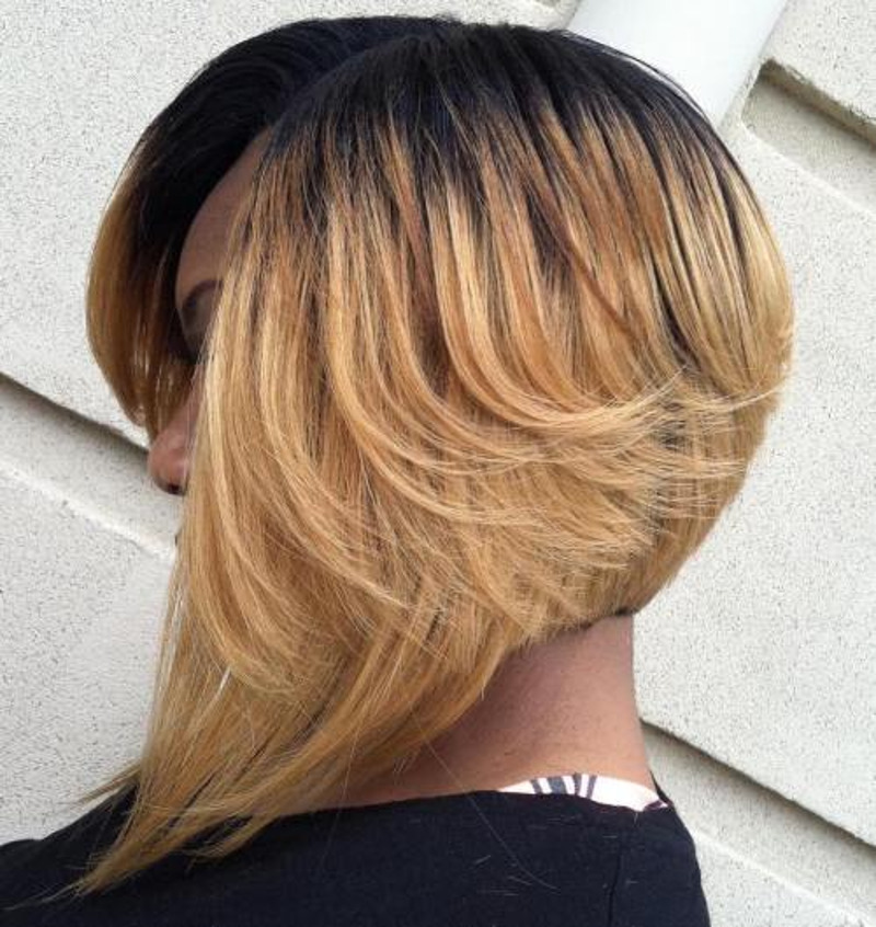 stacked bob sew in