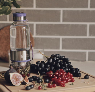 Стеклянная Бутылочка для воды фиолетовая