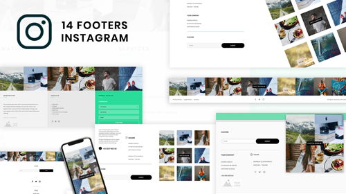 Instagram Footers
