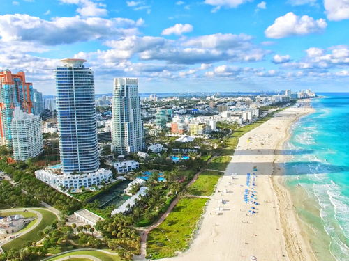skyview of Miami Beach
