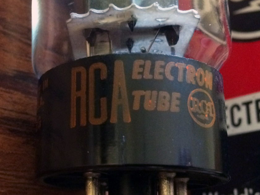 RCA 5U4GB; closely matched pair from 1960's  in beautiful condition