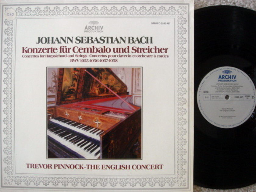 Archiv / PINNOCK, - Bach Concertos for Harpsichord & Strings,  NM!