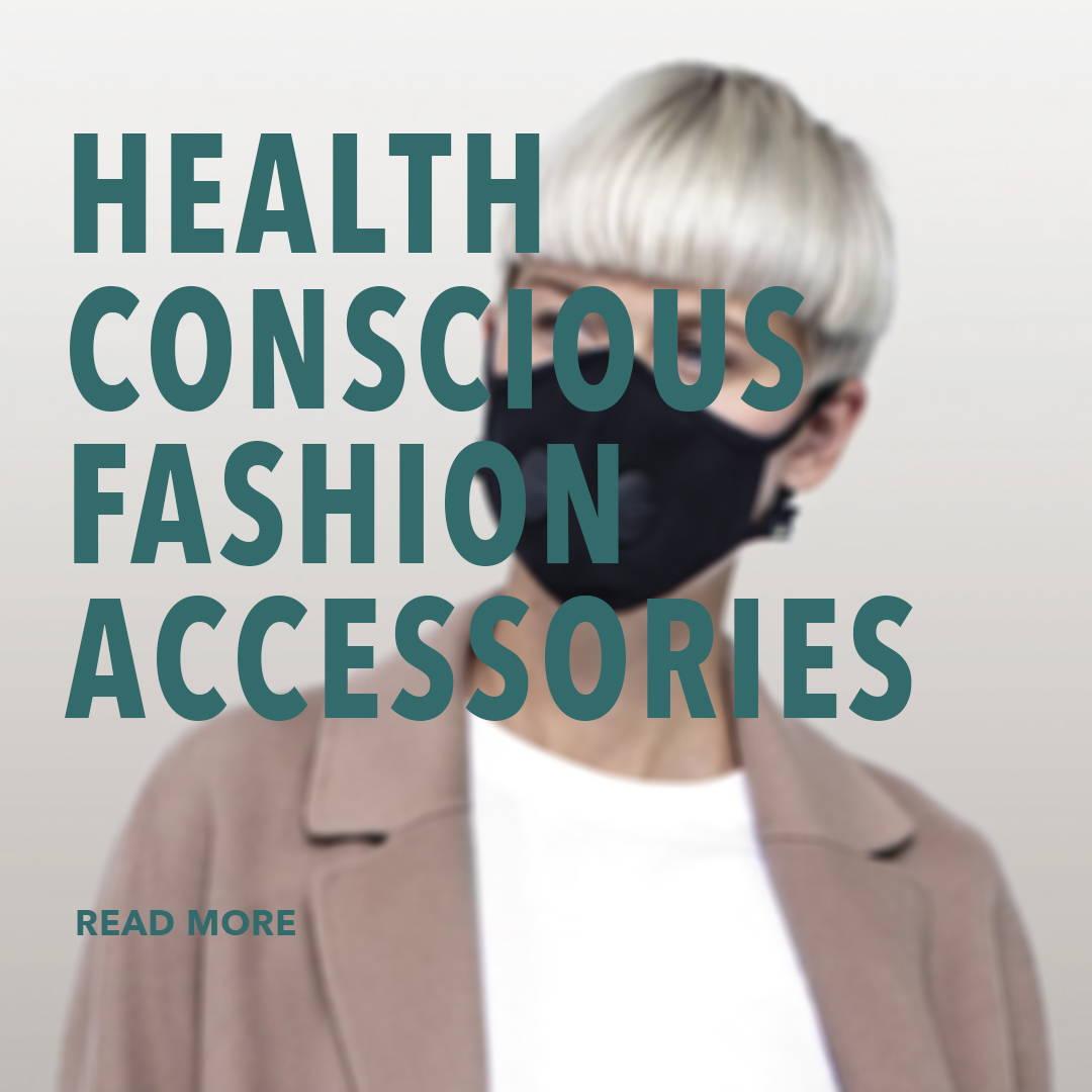 a women is wearing a face mask