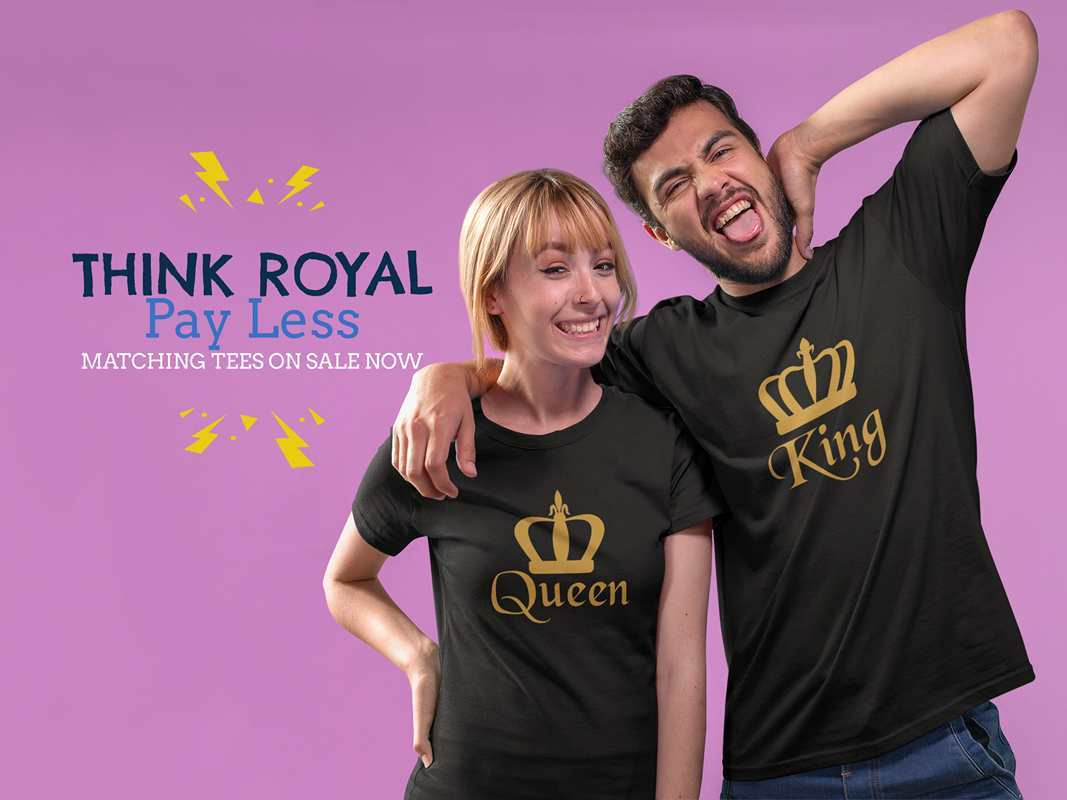 Matching King and Queen Shirts