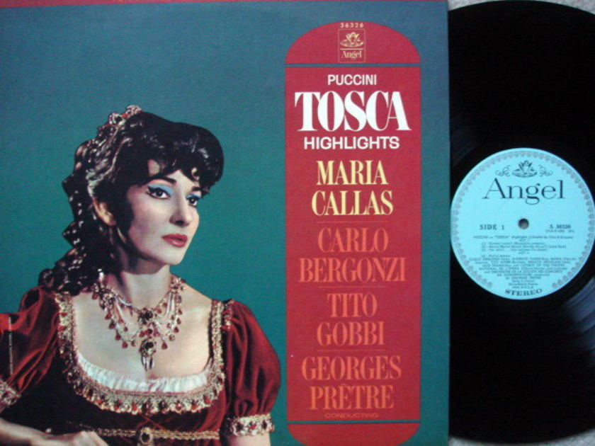 EMI Angel Blue / CALLAS-PRETRE,  - Puccini Tosca Highlights, NM!