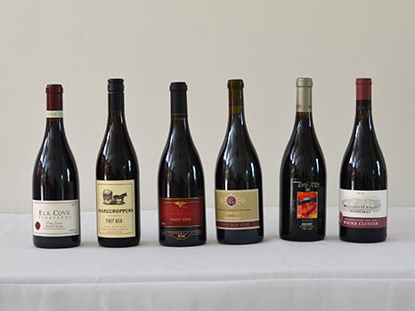 6 Oregon Pinot Noirs