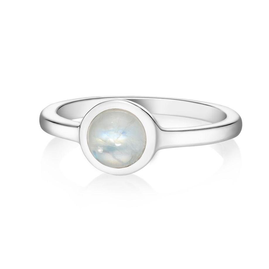 Кольцо ALPHA - Лунный камень