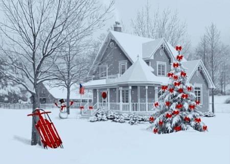 Romantic christmas tree