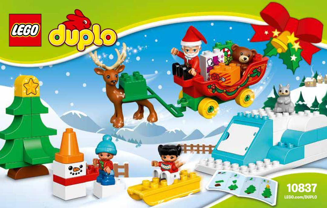 Lego Town Duplo Santa's Holiday For Winter.
