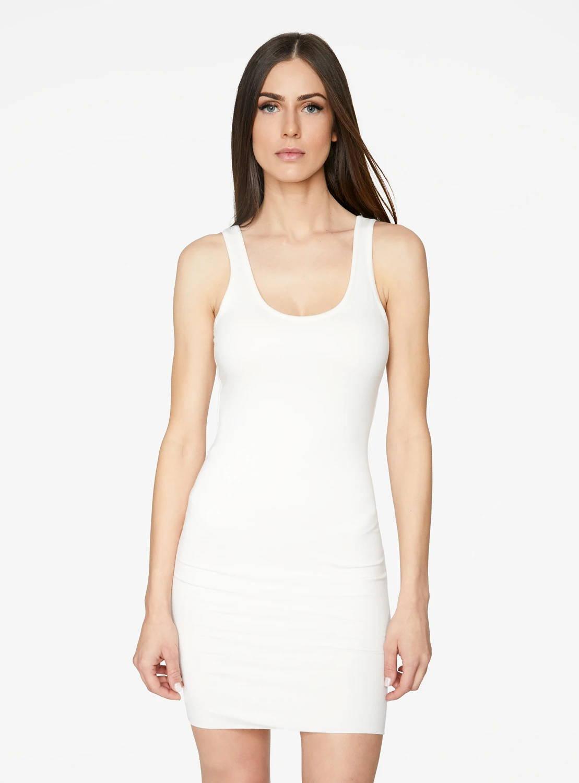 Crème Tank Mini Bodycon Dress