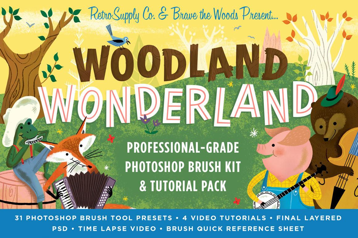 Brad Woodard Illustrator brushes and tutorials