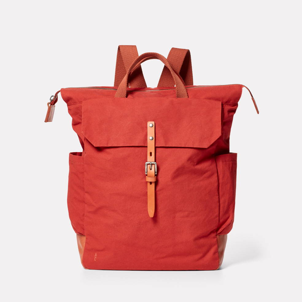 Hoy Leather Backpack in Tan