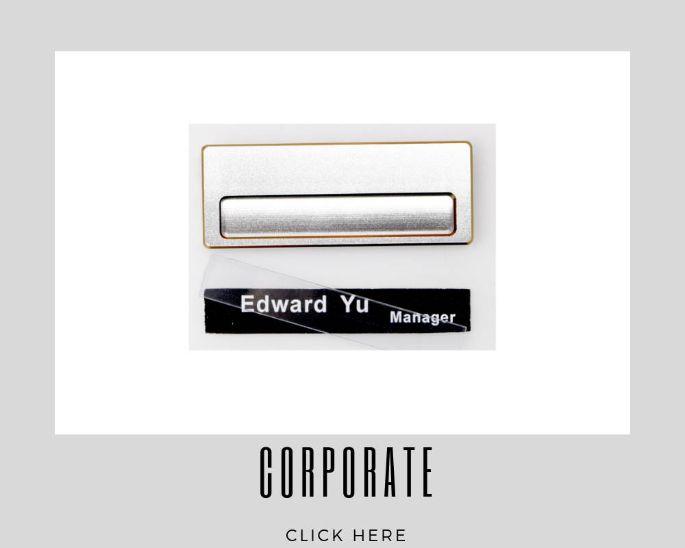 Custom Corporate Name Badges Tags