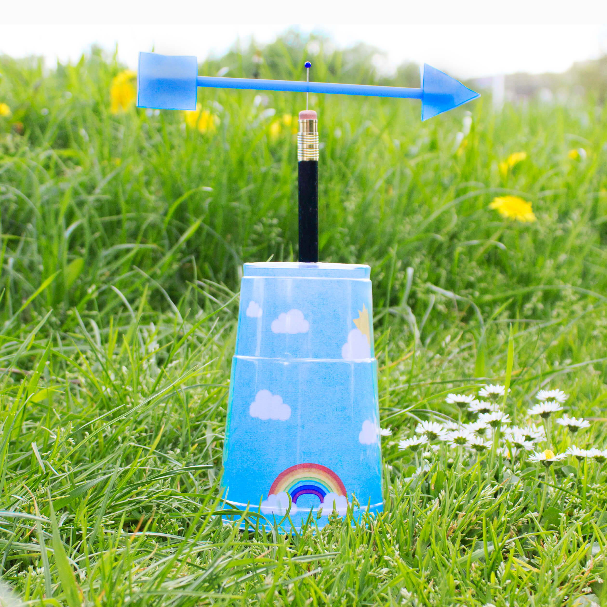 How to make a wind vane for kids
