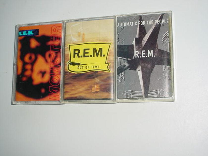 REM - Lot of 3 audio cassette  tapes