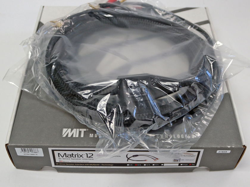 MIT Matrix 12 Bi-Wire Speaker Cables 10ft pair