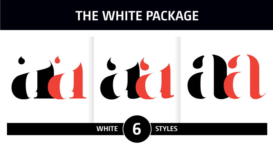 The Basic Fonts Package - Moshik Nadav Fashion Typography