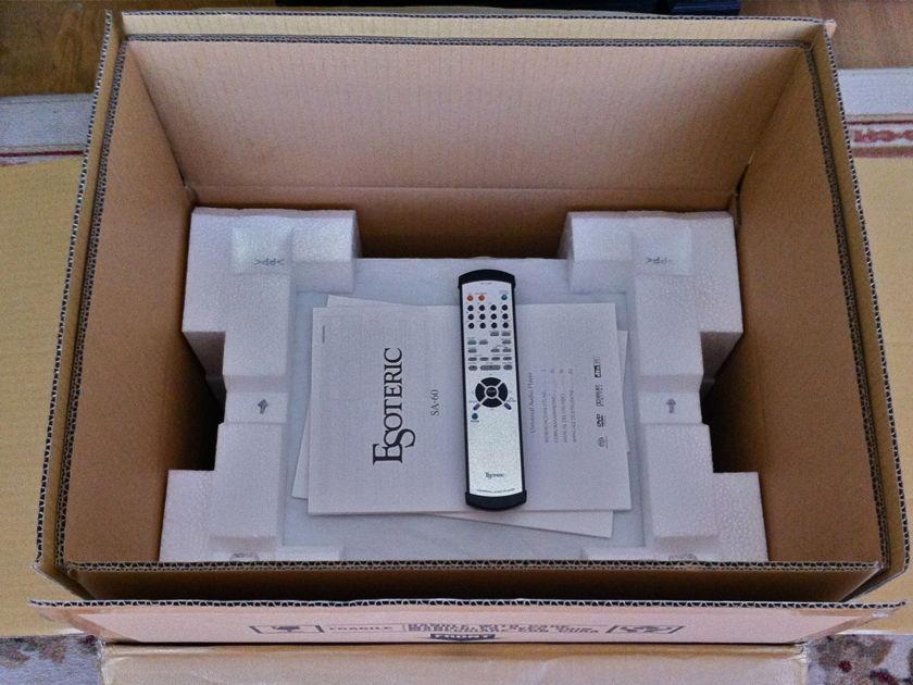 Esoteric SA-60 SACD/CD player - MINT condition 230 Volts - Europe