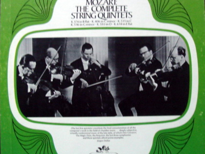 EMI Angel Seraphim / HEUTLING QT, - Mozart The Complete String Quintets, MINT, 3LP Box Set!